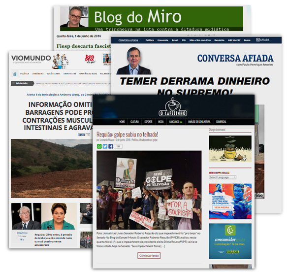 Blogs ligados a portais independentes ou sem portais
