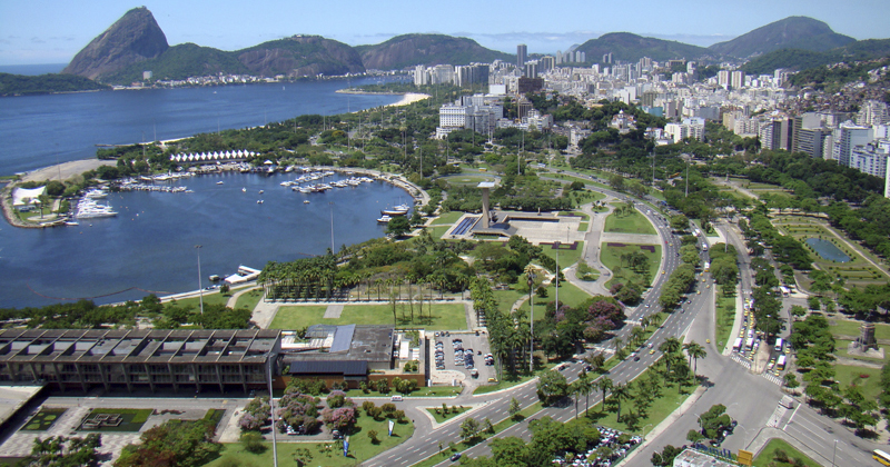 Vista aérea do Aterro do Flamengo - Foto: Wikimedia Commons