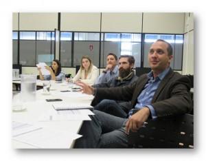 Banca de avaliação com profissionais da EY e professores da EESC   Foto: Mateus Gerolamo