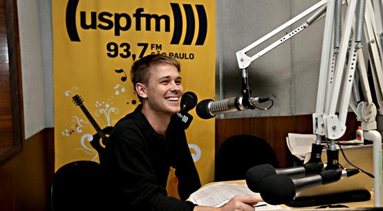 Jacob Moe, pesquisador da ECA na rádio USP - FOTO: Cecília Bastos/USP Imagens