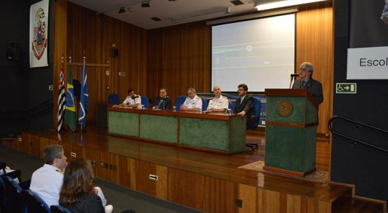 José Roberto Castilho Piqueira, diretor da Poli, discursa no evento - Foto: Assessoria da Poli