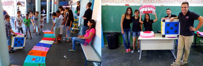 Alunos do Pet-Odonto desenvolvem atividades em escola pública - Foto: Divulgação/Pet Odonto