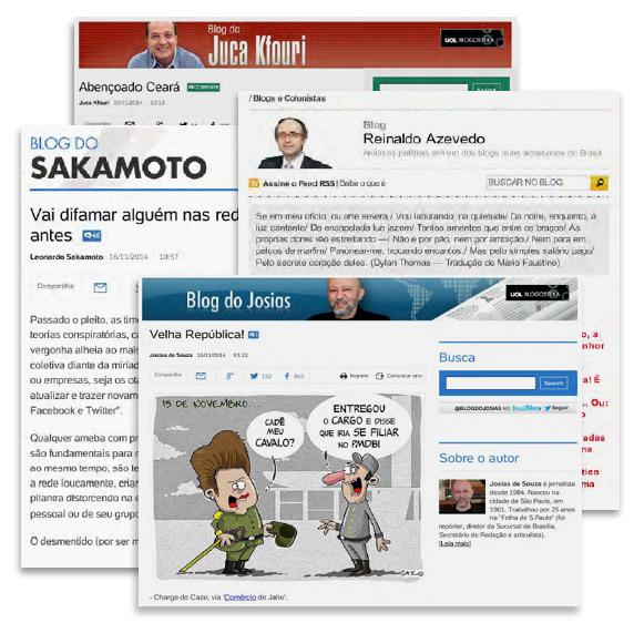 Blogs ligados a empresas de comunicação
