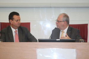 O ministro Gilberto Kassab participou do encontro a convite do reitor Marco Antonio Zago