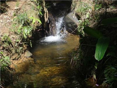 Canal que levava água do Tanque Grande para a área da lavra do ouro - Foto: Arquivo da pesquisadora