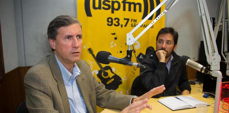 Diálogos da USP com Pedro Dallari e Feliciano de Sá Guimarães - Foto: Marcos Santos/USP Imagens