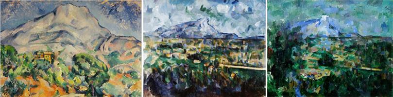 Montanha de Saint-Victoire 1900  1902-06 1904-06