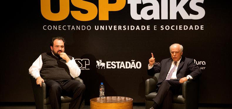 Gustavo Fernandes e Ademar Lopes - Foto: Marcos Santos/USP Imagens