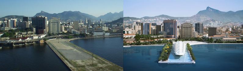 Porto Maravilha antes e depois - Foto: Divulgação
