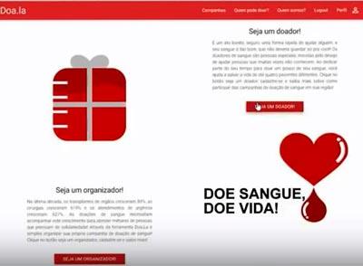 Template do site Doa.la - Foto: Divulgação