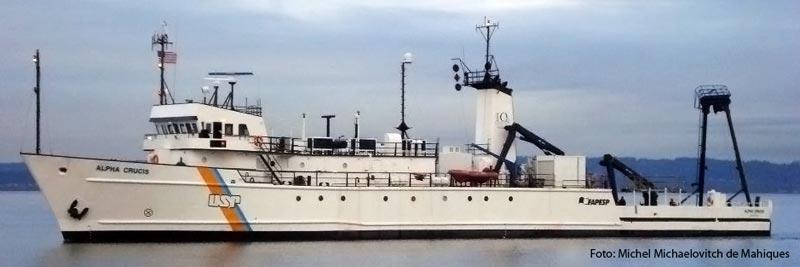 Instituto Oceanográfico possui embarcações próprias para o desenvolvimento de pesquisas - Foto: Michel M. de Mahiques
