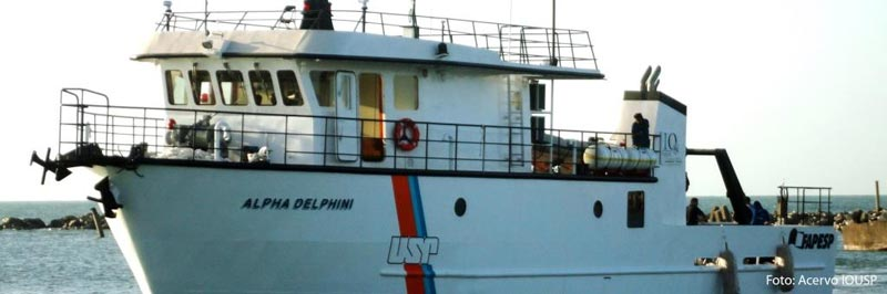 Instituto Oceanográfico possui embarcações próprias para o desenvolvimento de pesquisas - Foto: Acervo IOUSP