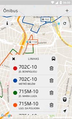 O InSPorte permite que os usuários localizem o ônibus mais próximo (Crédito foto: reprodução)