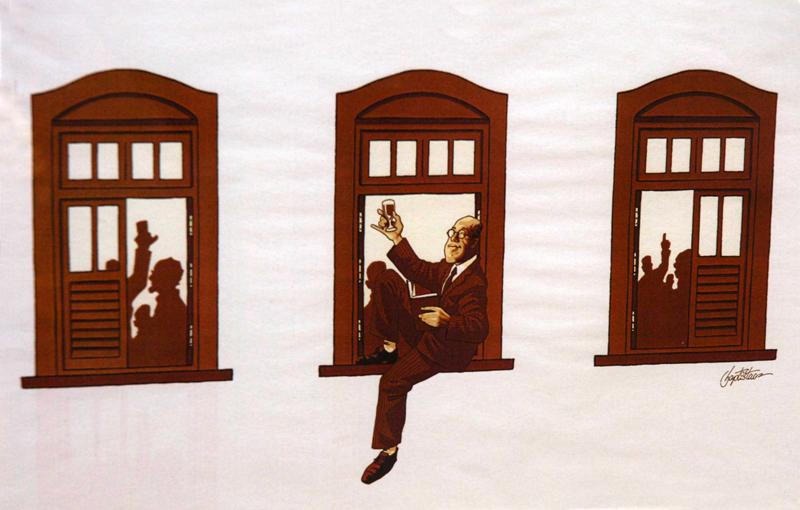 Baptistão_ Caricatura Mario de Andrade_ Foto Francisco Emolo/Arquivo Jornal da USP