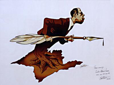Baptistão_ Caricatura Mario de Andrade - Foto: Francisco Emolo/Arquivo Jornal da USP
