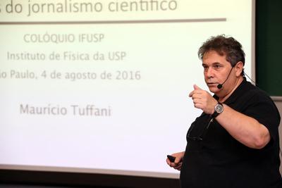 """Palestra de Maurício Tuffani """" O atual cenário da comunicação e os desafios do jornalismo científico"""" - Fotos: Cecília Bastos/Usp Imagens"""