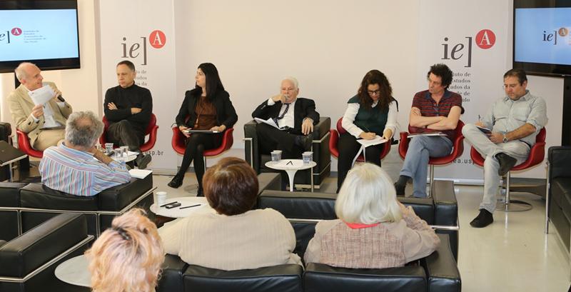 Grossmann, Mano, Garbelotti, Rouanet, Maciel, Basbaum e Giannotti - Foto Marcos Santos/USP Imagens