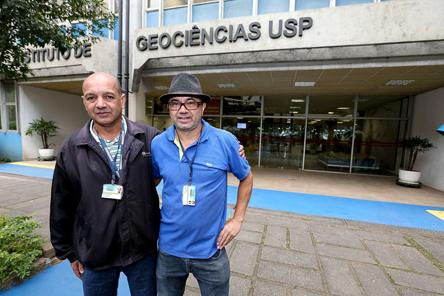 Batista e Nascimento companheiros de trabalho de longa década - Foto: Marcos Santos/USP Imagens