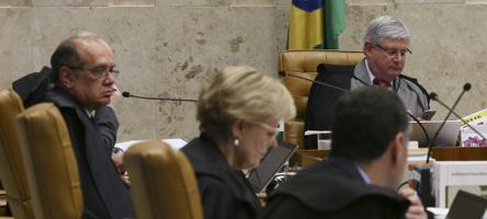 Gilmar Mendes (à esquerda) e Rodrigo Janot (à direita) - Foto: Lula Marques/Fotos Públicas