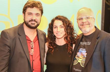 Rodrigo Fonseca, Rosane Svartman e Emanu ... bina - Foto: Divulgação/ Globo-Universidade