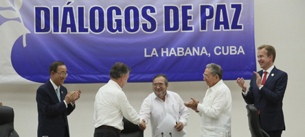 Acordo de cessar-fogo entre Colômbia e as Farc - Foto: Yenny Muñoa/ CubaMINREX via Fotos Públicas