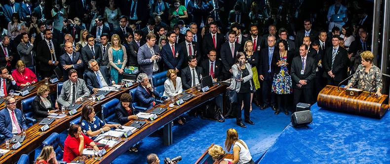 Dilma Rousseff durante discurso no Senado Federal - Foto: Lula Marques via Fotos Públicas