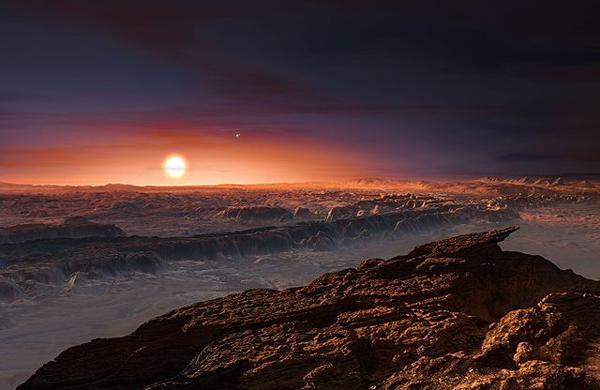 Concepção de artista da superfície de Proxima Centauri b, descrito como um planeta semelhante à Terra - Foto: M. Kornmesser/ESO