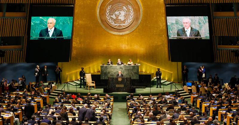 Presidente Michel Temer durante abertura do Debate Geral da 71ª Assembleia Geral das Nações Unidas (ONU) - Foto: Beto Barata/PR