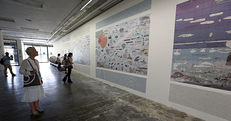Transbordamento: Mapa Universal, de Rikke Luther, na 32ª Bienal de São Paulo - Incerteza Viva - Foto: Marcos Santos/USP Imagens