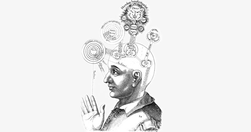 Representação gráfica de consciência do século XVII – Ilustração: Robert Fludd via Wikimedia Commons