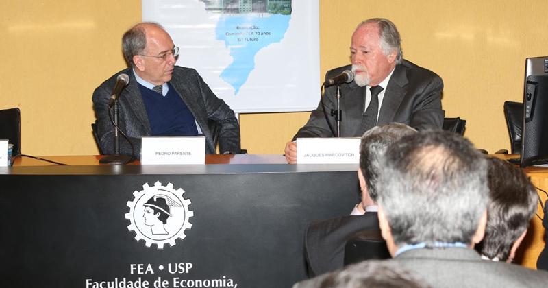 Pedro Parente e Jacques Marcovitch - Foto: Marcos Santos/USP Imagens