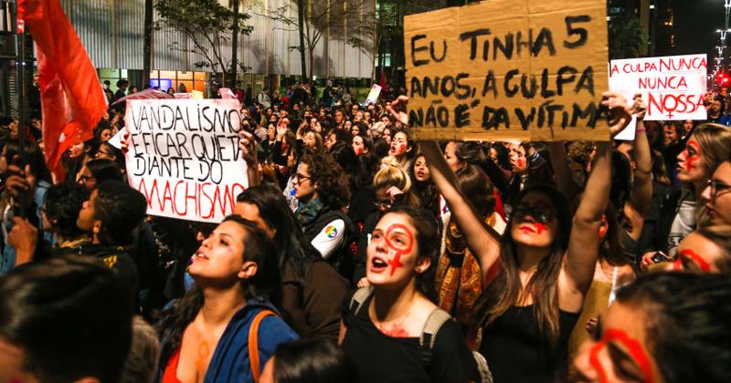 Manifestação na Avenida Paulista, contra o estupro - Foto: Paulo Pinto/AGPT via Fotos Públicas