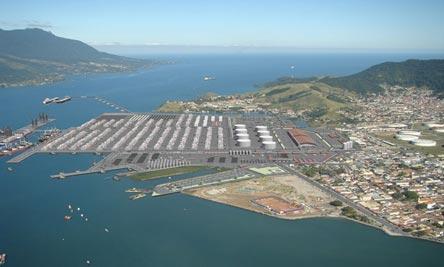 Perspectiva da ampliação do porto de São Sebastião - Foto: Arquivo do pesquisador