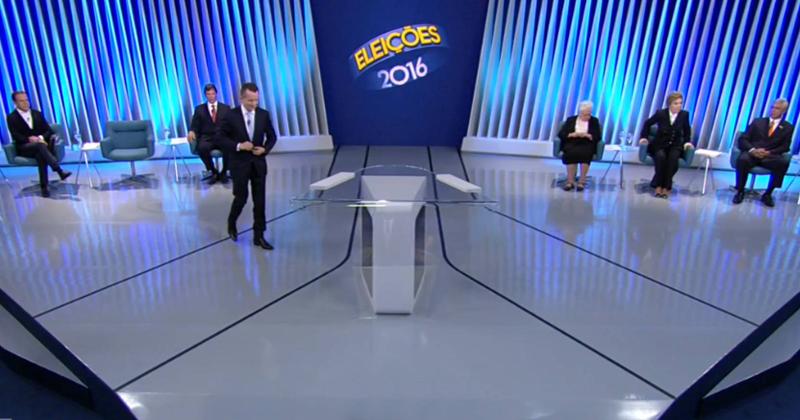 Debate de candidatos à prefeitura de São Paulo paulistanos na TV Globo - Foto: Reprodução