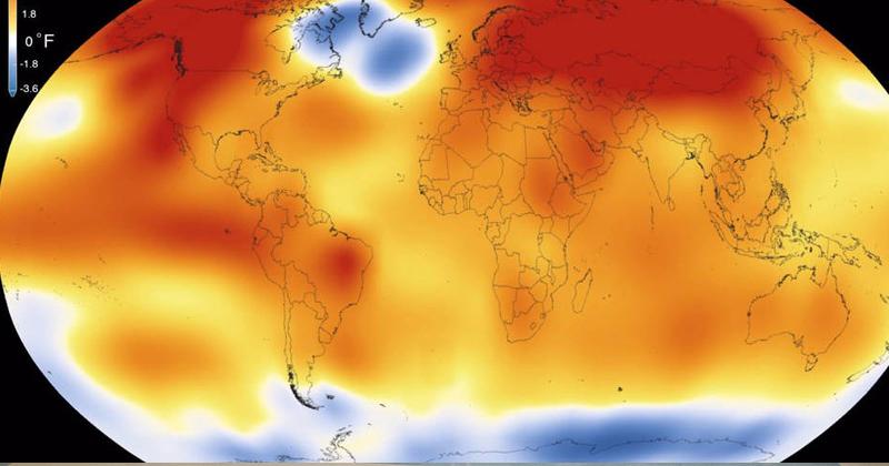 Medidas mais drásticas para reduzir a emissão de gases estufa serão necessárias para evitar que o planeta esquente mais de 2 °C até o fim do século, aponta análise coordenada por ex-presidente do IPCC que tem José Goldemberg entre os autores - Foto: NASA/NOAA