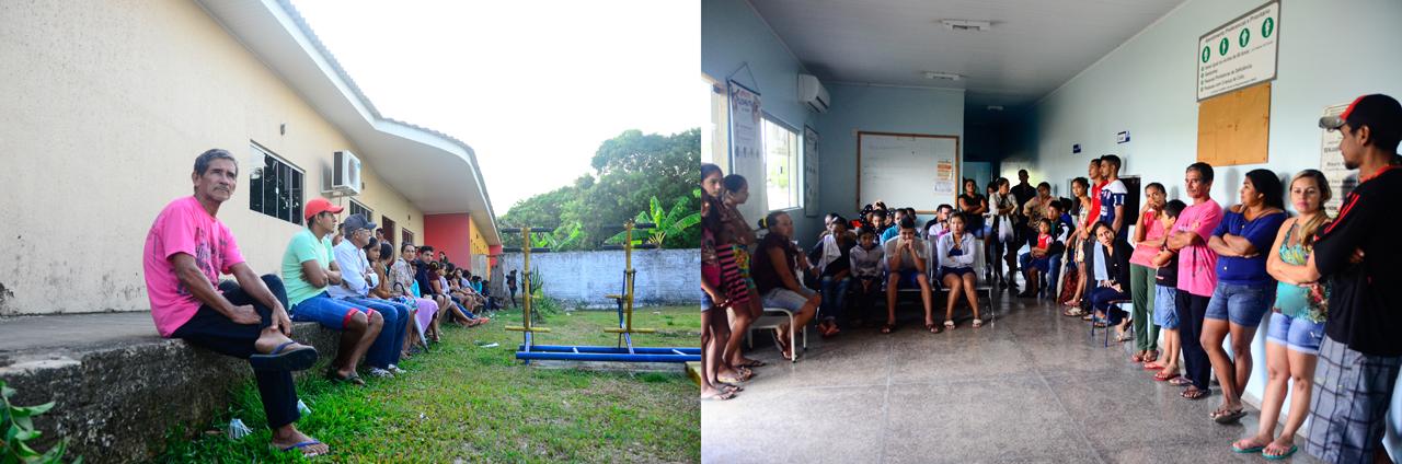Posto de Saúde de Calama: a população madruga na fila - Foto: Denise Guimarães/USP Imagens
