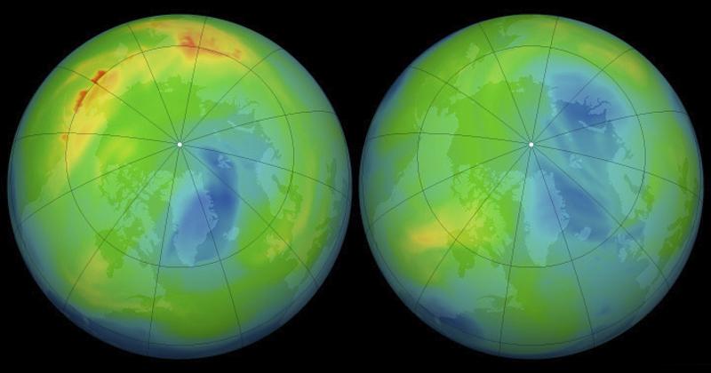 Evolução da Camada de Ozônio - Foto: NASA