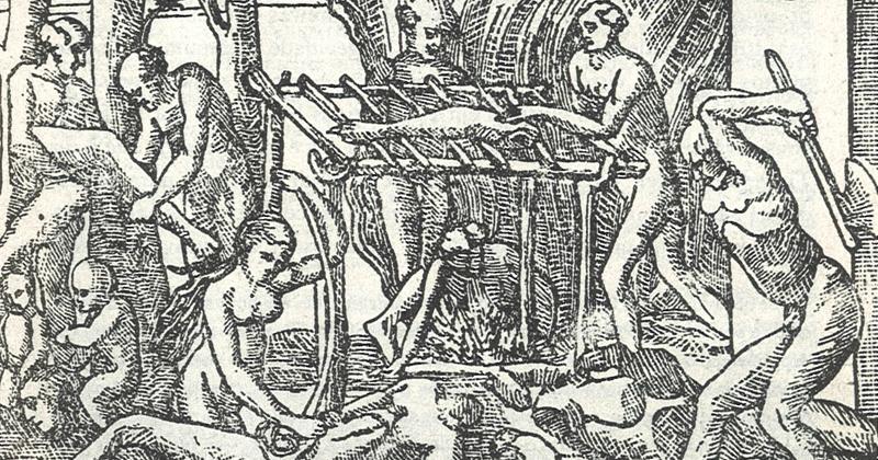 Ação canibal, em Thevet 1557 - Foto: Reprodução