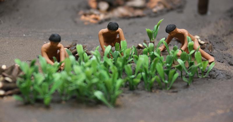 Maquete tátil mostra o cotidiano dos índios que habitavam o Brasil