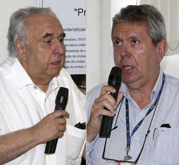 Mario Thadeu Leme de Barros e Luiz Carlos Dieckmann - Foto: Marcos Santos/USP Imagens