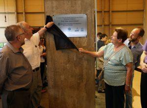 Inauguração do simulador físico de ondas espectrais na Poli-USP - Foto: Marcos Santos/USP Imagens