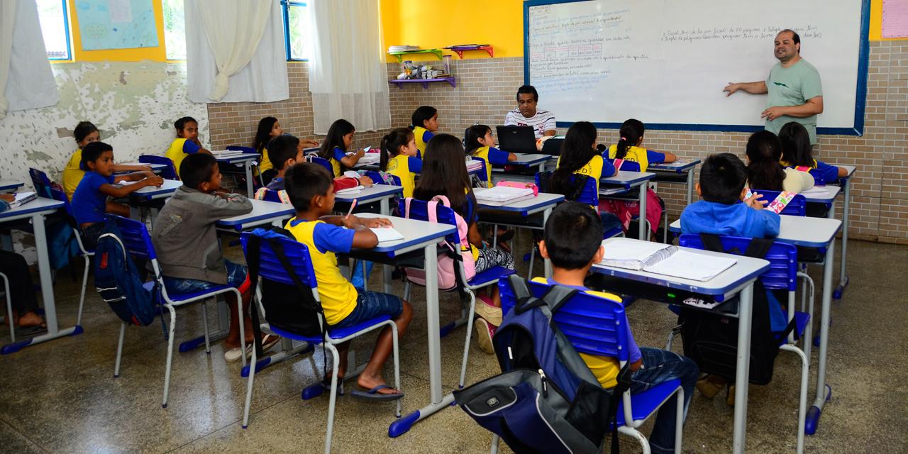 Ação de saúde coletiva na E.M.E.I.E.F Dra. Ana Adelaide Grangeiro de Calama - Foto: Denise Guimarães/USP Imagens