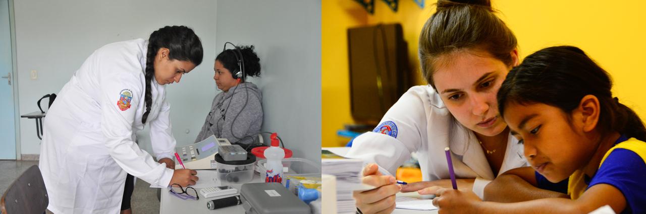 Atendimento fonoaudiológico - Fotos: Denise Guimarães/USP Imagens