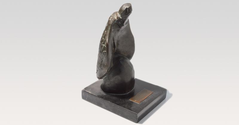 Uma das estatuetas do Prêmio Jabuti ganha pela Edusp - Foto: Marcos Santos/USP Imagens