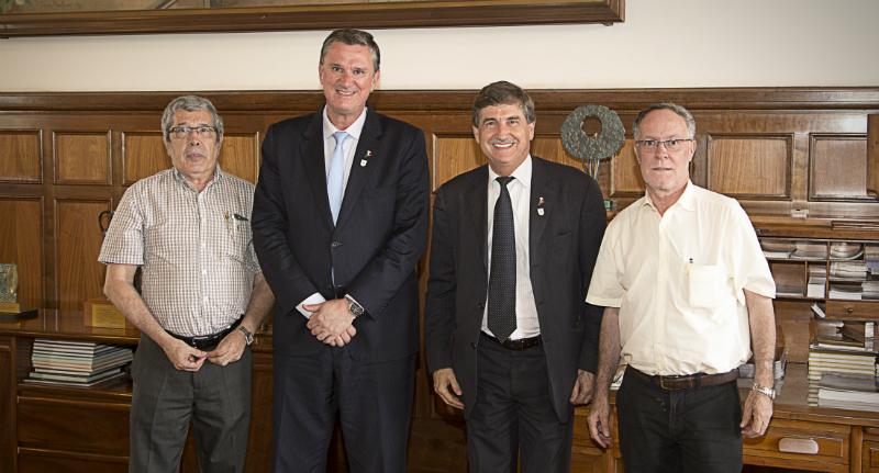 José Godoy, Luiz Gustavo Nussio, Fausto Longo e Barjas Negri - Foto: Cristiano Ferrari