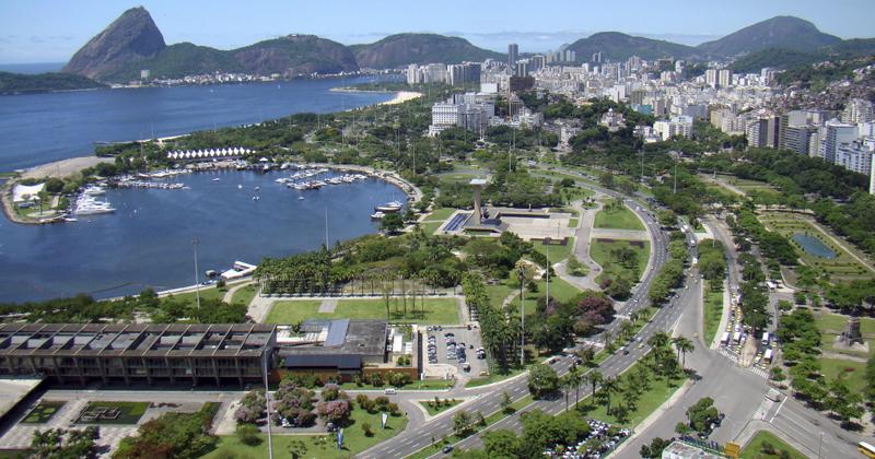 Vista aérea do Aterro do Flamengo - Foto: Wikimedia Commons