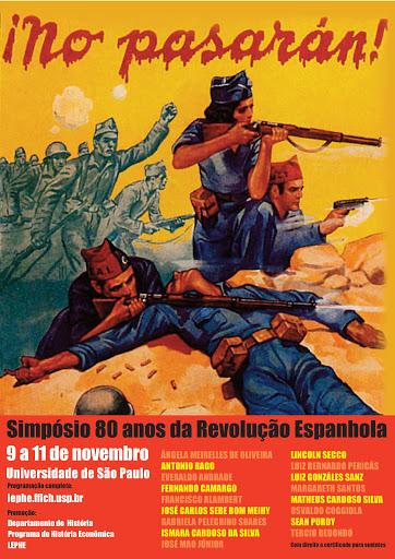 Cartaz 80 anos de Revolução Espanhola - Foto: Reprodução