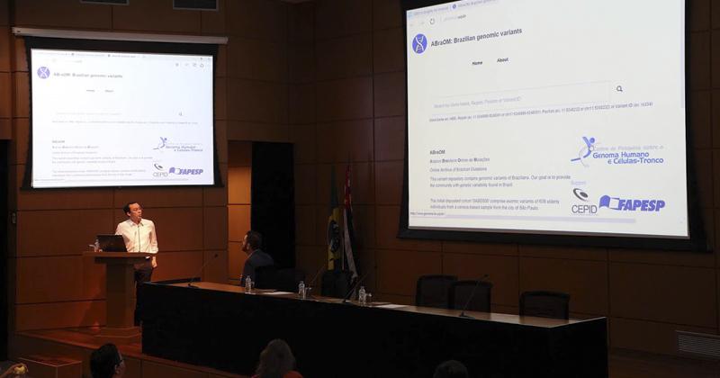 Apresentação do site do Arquivo Brasileiro Online de Mutações (ABraOM) na sede da Fapesp, em São Paulo - Fotos: Marcos Santos / USP Imagens