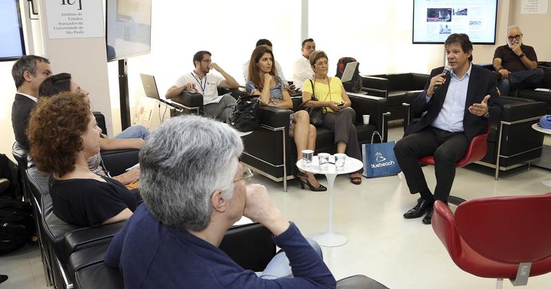 Fernando Haddad abriu a série de depoimentos de prefeitos de São Paulo ao programa USP Cidades Globais - Foto: Marcos Santos/USP Imagens