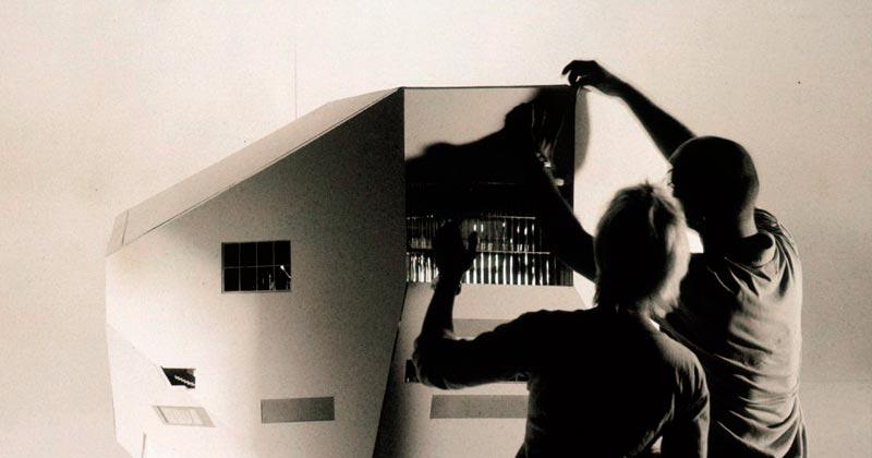 Maquete Casa da Música, Porto, imagem cedida por OMA / Hans Werlemann